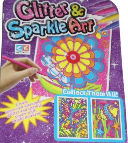Glitter and Sparkle Art - Flower Theme