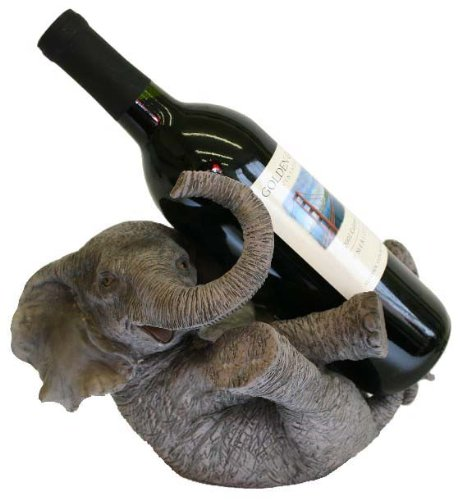 Elegant elephant decor in the home - Elephant wine bottle holder ...