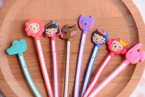 Onor-Tech Set Of 6 Lovely Cute Cartoon Cable Cord Wire Tidy Tie Strap Cord Headphone Earphone Cable Organizer