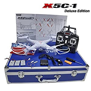 Potensic Luxury Collection Upgraded Version Syma X5C-1 quadcopter and Carrying Case for Syma X5C-1 X5C X5 Quadcopter Drone FJPJ0125