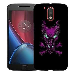 Snoogg Pink Dragon Designer Protective Back Case Cover For MOTOROLA G4 / G4 PLUS