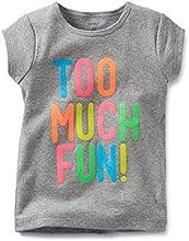 Carter39s Girls Cap Sleeve quotToo Much Funquot TeeShirt