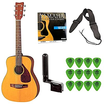 Yamaha JR1 3/4 Size Acoustic Guitar Bundle with Bag,Strap,Strings,Winder and Picks