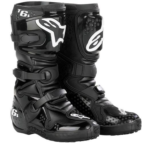 Tech 6S Youth Boots Black Size 4 Alpinestars 201506-10-4 колесные диски tech line 632 6 5х16 5х105 d56 6 ет39 s ch