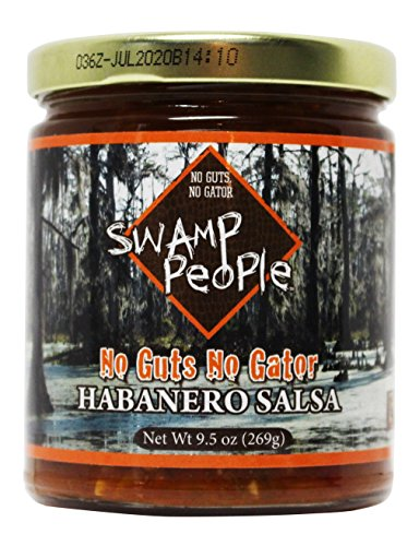 Swamp People No Guts No Gator Habanero Salsa | Inspired by History Channel's Swamp People Series (Habanero Salsa, 9.5oz) (Georgia Peach Salsa compare prices)