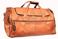 Cape Cod Leather Flyer Tan Travel Bag