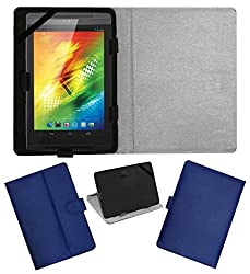 ACM LEATHER FLIP FLAP TABLET HOLDER CARRY CASE STAND COVER FOR XOLO PLAY TEGRA NOTE BLUE