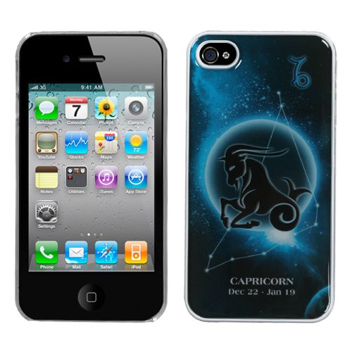 MYBAT IPHONE4HPCBKDRM878NP Premium Lightweight Dream Back Case for iPhone 4 - 1 Pack - Retail Packaging - Capricorn Horoscope