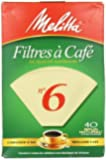 Melitta Cone Coffee Filters #6 PACK OF 40
