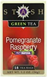 Stash Tea Company Pomegranate Raspberry Green Tea, 18 Count Tea Bags in Foil (Pack of 6)
