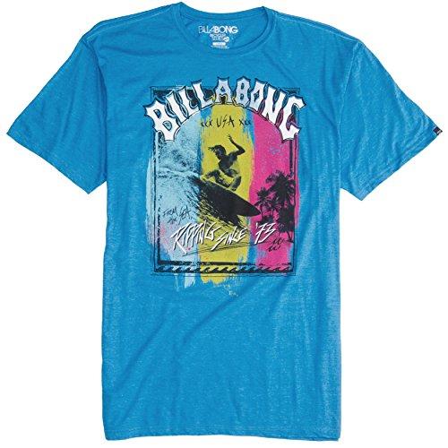 Billabong Boys' Boys (Ages 2-7) Ripper T-Shirt Acid Blue Heather 3T