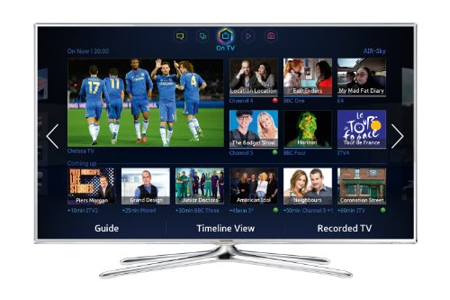 Samsung UE46F6510 46-inch Widescreen 1080p Full HD 3D Smart LED TV with Freeview, S Recommendation , Voice Interaction, Dual Core Processing and 2x Glasses - White (2013 model)