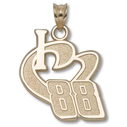 Dale Earnhardt Jr #88 10K Gold I HEART 88 PENDANT ¾