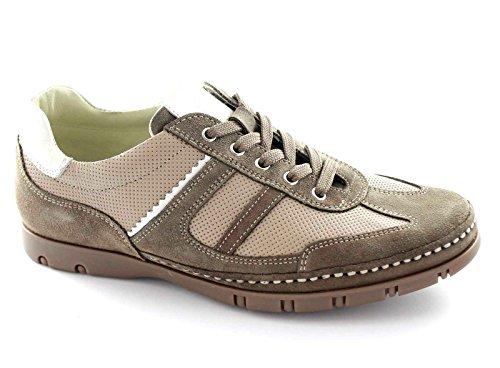 LION 20589U velour marrone scarpe uomo lacci sportive pelle scamosciata 43
