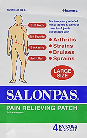 Salonpas Pain Relief Patches, Large, 20 Count