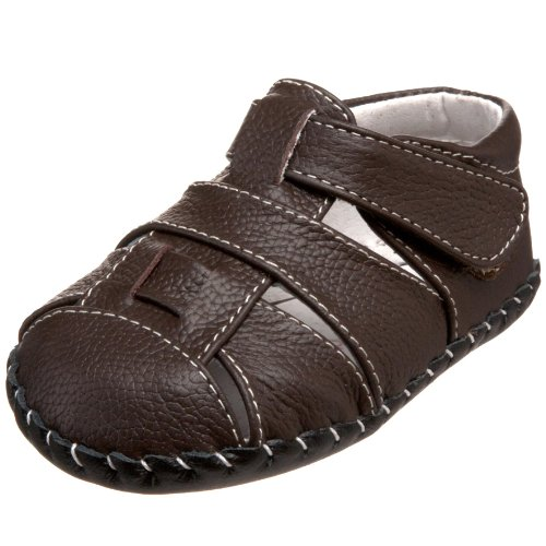pediped Originals Harvey Sandal (Infant),Chocolate Brown,Medium (12-18 Months)