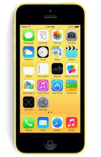 Apple iPhone 5C Smartphone (10,2 cm (4 Zoll) Retina Display, A6 Prozessor, 8 Megapixel Kamera, 32GB interne Speicher, iOS 7) gelb