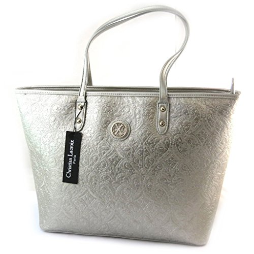 'french touch' bag 'Christian Lacroix'argentato.