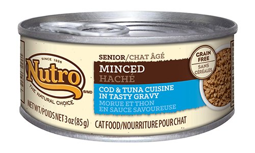 Nutro Senior Cat Food Minced Cod & Tuna Cuisine Recipe
