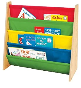 Tot Tutors Book Rack, Primary Colors, 2 Book Racks