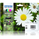 Epson Expression Home XP312 Full Set of Genuine Epson Printer Ink Cartridge - Epson 18 Daisy Series