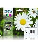 4 Cartouche d'encre pour Imprimante Epson Expression Home XP215 - Cyan / Jaune / Magenta / Noir- Avec Puce