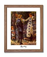 Renoir The Swing French Victorian Home Decor Wall Picture Oak Framed Art Print