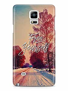 YuBingo Free Yourself Designer Mobile Case Back Cover for Samsung Galaxy Note 4