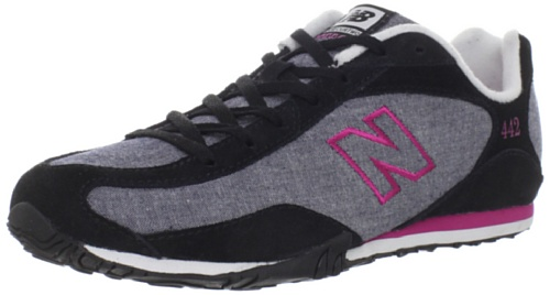 New Balance Women's Wl442 Running Shoe,Black/Pink,8.5 D US