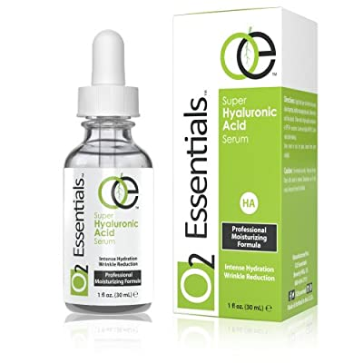 Cheapest O2 Essentials - Hyaluronic Acid Serum for Skin with Vitamin C & E - 100% Pure Anti Aging Moisturizer, 1 fl. Oz by O2 Essentials - Free Shipping Available