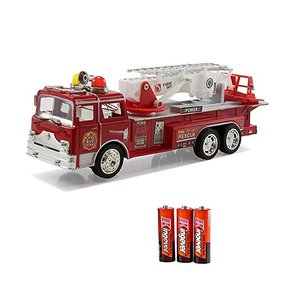 Fire Engine Truck Kids Toyl Kids Toy With Extending Ladder Lights