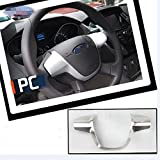 Chrome Steering Wheel Trim Silver 1PC Interior For 2012 2013 Ford New Focus
