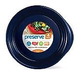 Preserve Everyday 9.5 Inch Plates, Set of 4, Midnight Blue