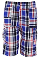 Boys Shorts Checked Cargo Long Knee Length Childrens Summer Clothing Ages 2-14yr