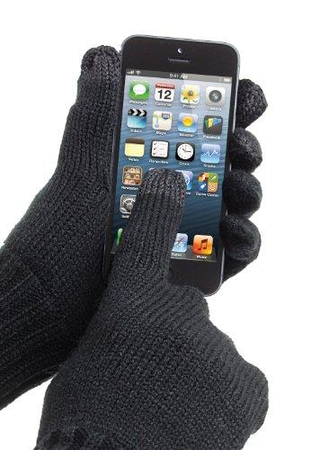 Trendz Touchscreen Handschuhe in Größe M Kompatibel mit Smartphones, Tablets und MP3 Geräten einschließlich iPhone 4/4S/5/5S/5C/6/6 Plus, iPad 2/3/4/Air/Mini, iPod Nano 7. Generation, iPod Touch 5. Generation, Samsung Galaxy S2/S3/S4/S5, Galaxy Note 2/3, Galaxy Tab 2/3/4, Xperia Z1/Z2, HTC One/One M8 und Google Nexus 5/7/10 - Schwarz