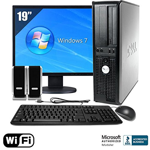 "Dell 755 Desktop W/ Wifi Intel Core 2 Duo 2.0Ghz 4Gb Memory 160Gb Standard Hard Drive Windows 7 19"" Monitor, Keyboard, Mouse, Speakers"