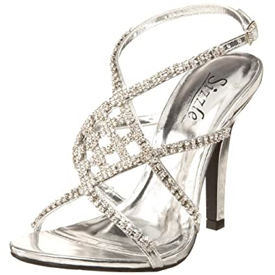 Sizzle by Coloriffics Women's Broadway Sandal,Silver,8 M  US