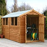 10ft x 6ft Overlap Apex Wooden Storage Shed - Brand New 10x6 Wood Sheds