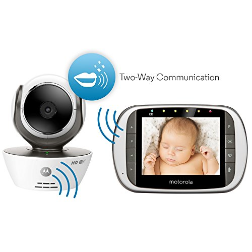 motorola digital video baby monitor with wi fi internet viewing and 3 5 inch diagonal color. Black Bedroom Furniture Sets. Home Design Ideas