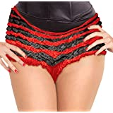 Ruffled Panties In Black And Red - Adult Std.