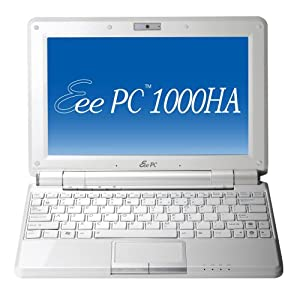 ASUS Eee PC 1000HA 10.1-Inch Pearl White Netbook - 7 Hour Battery Life