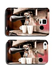 espresso machine pouring coffee in cups cell phone cover case iPhone6 from My-Handy-Design