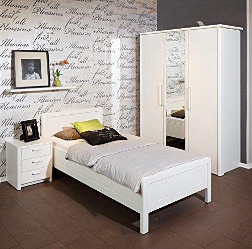 Nolte-Delbrck-Schlafzimmerset-SAPHIR-nd-in-wei-mattverschiedene-GrenSchrankBettNachtkonsoleSchlafzimmer-Liegeflche90x200-cmGreBHT-151-x-226-x-62-cm