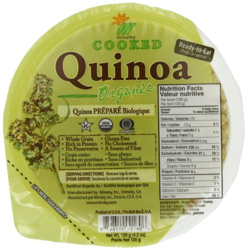 gogo rice Organic Quinoa, 4.2-Ounce Containers (Pack of 12)