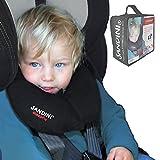 SANDINI SleepFix S - Enfants Coussin de sécurité - cale-tête voiture/ vélo - Kit complet NOIR y compris SAC GRATUIT...