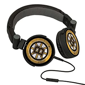 NHL Boston Bruins Washed Logo Headphones by Pangea Brands