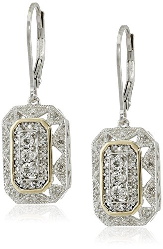 Sterling-Silver-14k-Yellow-Gold-and-Gemstone-Art-Deco-Style-Drop-Earrings-with-Diamond-Accents-013-cttw-I-J-Color-I2-I3-Clarity