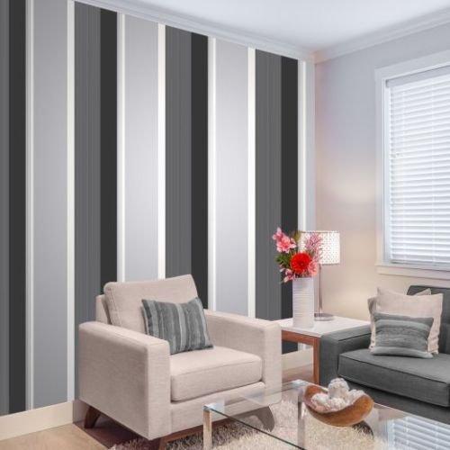 stripe-wallpaper-bold-charcoal-grey-black-white-silver-luxury-modern