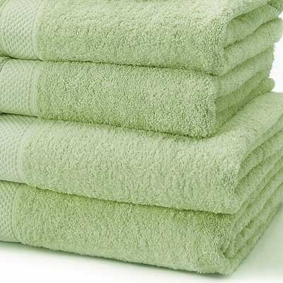 Linens Limited 100% Turkish Cotton 500gsm Bath Towel, Light Green