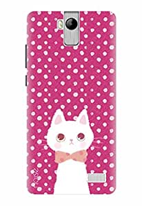 Noise Printed Back Cover Case for Karbonn A6 Turbo